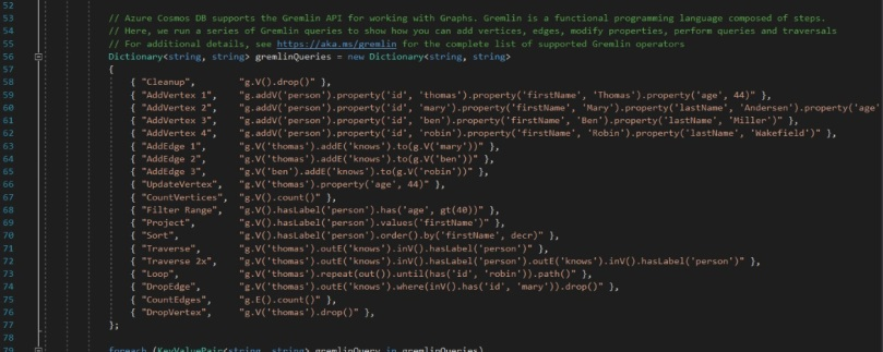 Gremlin API Queries