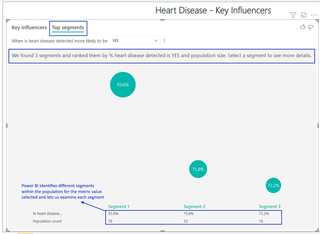 Heart Disease - Key Influencers Power BI - Top Segment.jpg